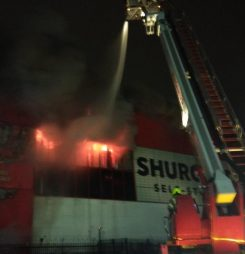 FIRE DESTROYS CROYDON SELF STORE